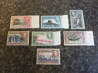 CEYLON POSTAGE STAMPS SG386,389,391,392,393,394B,395 4 MARG UN-MOUNTED MINT