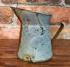 Galvanized Metal with Rust Accent Small Water Pitcher Vase