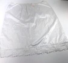 NWT Shiny White Lace Trim Half Slip Woman's Size L VTG JC Penny Gaymode  USA