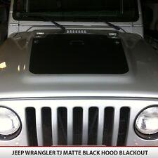 Jeep Blackout Hood Decal Matte Black Out Fits: Jeep Wrangler TJ 97-06