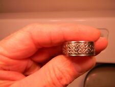 Striking 9.75mm wide Celtic Knot Pattern Band 19.8 mm Diameter Men's Size 10 US
