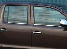 Chrome Side Door Window Sill Trim Set Covers To Fit Volkswagen Amarok (2010+)