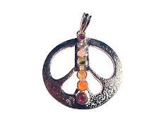 7 Chakra Metall Anhänger Peace Zeichen