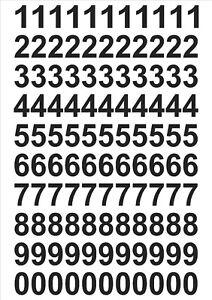 Vinyl Numbers stickers Decals bin door takeaways home bike weather proof Etc..