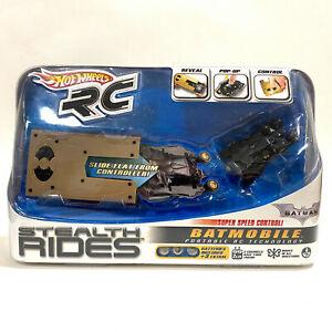 HOT WHEELS BATMAN RC Stealth Rides Batmobile 2010 Portable RC - NEW - AUS SELLER