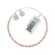 Alex and Ani Blush Rock Candy Beaded Silver Bangle BBEB179S - RRP £33