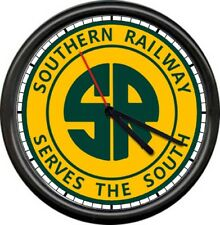 Southern Railway Serves South Railroad Rail Line Train Conductor Sign Wall Clock