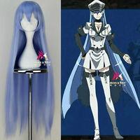 Akame ga KILL! Esdeath Long Ice Blue Cosplay Anime Party Wig Hair+Wig Net