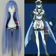 Akame ga KILL! Esdeath Long Ice Blue Cosplay Party Wig Hair