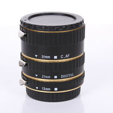 Metal Auto Focus AF Automatic Extension Tube Golden For Kenko Canon EF EF-S Lens