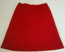 VINTAGE PENDLETON Red Plaid Wool Skirt, Size 36