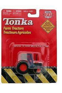 2007 Tonka 60th Anniversary Farm Tractors Orange with Orange Wheels Canopy