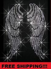 New Angel Wings Rhinestone Iron on Transfers Hot Fix (FREE SHIPPING!!!)