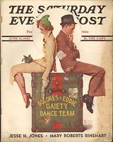 JUNE 12 1937 SATURDAY EVENING POST vintage magazine NORMAN ROCKWELL