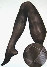 Berkshire Premium Trend Benefits Argyle Black Pantyhose Queen Size 1X-2X