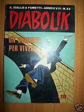 DIABOLIK ORIGINALE INEDITO-ANNO XVIII-23-SUICIDIO PER V