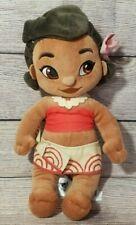 "Disney Store Animator's Collection Moana Plush Stuffed Doll 12"""