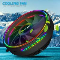 RGB Streamer Chassis CPU Cooler Fan PC Case 120mm 3Pin Cooling Radiator Heatsink
