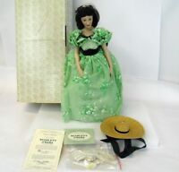 "Vintage 18"" Franklin Mint Scarlett O'Hara Gone with Wind Porcelain Doll w/ COA"