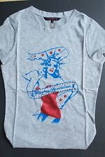NEW LADIES GIRLS GENUINE PLAYBOY LIBERTY T SHIRT GREY SIZE 8 BNWT