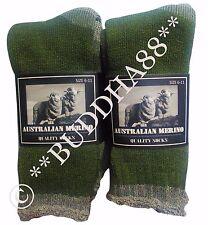 6 PAIRS GREEN HEAVY DUTY AUSTRALIA MERINO EXTRA THICK WOOL WORK SOCKS Size 11-14