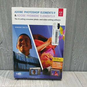 PHOTOSHOP ELEMENTS 9 & PREMIERE ELEMENTS 9 for Windows Mac OS Pre-Owned