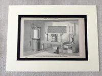 1880 Stampa Vittoriano Gasometer Industriale Design George Glover Gas Metro