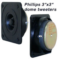 """Philips tweeter 4 each 31/4""""X31/4"""" Replacement for Hi Fi or pro Made in Belgium"""