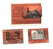 Mirow Reutergeld 3 Scheine. Los 899. schoeniger-notgeld