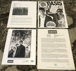 OASIS RARE 1994 ORIGINAL Definitely Maybe PRESS KIT PHOTO Noel Liam Gallagher