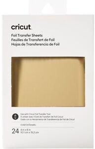 "Cricut Foil Transfer Sheets GOLD For Maker & Explore - 24 Sheets - 4"" x 6"""