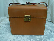 Vintage Camera Bag Universal Carrying Case  POLAROID  leather burgundy w Insert