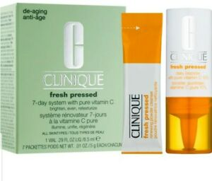 Clinique fresh pressed 7-day system with pure vitamin C 7 Packet New Boxed