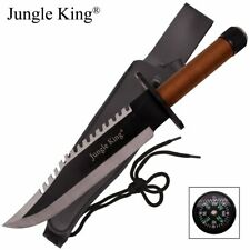 """15"""" Two Tone Blade Rambo Survival Hunting Knife with Survival Kit- Tan Handle"""