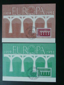 bridge Europa Cept 1984 x2 maximum card Andorra 68507