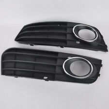 2xFront Bumper Grille Grill LED DRL Driving Fog Light Lamp Cover For Audi A4 A4L