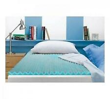 """3"""" Reversible Memory Foam Bed Mattress Topper Full Size Pad Breathable Blue"""