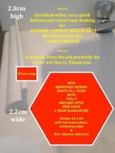 LARGE VERSION BATH SHOWER CURTAIN ANTI SPLASH GUARD KIT