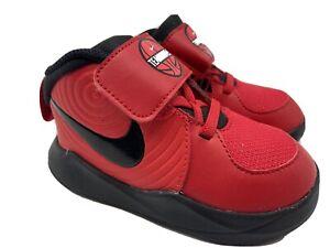 Nike Toddler Red Black Size 3c Team Hustle Boys (TD)  Boys Sneakers NEW!