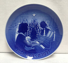 Vintage 1971 BING & GRONDAHL B & G Christmas Eve JULE AFTEN Plate ~ Denmark