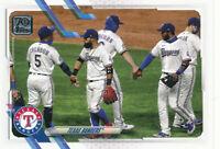 2021 Topps Series 1 #283 Texas Rangers Team Card