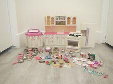Huge Lot Tyco Kitchen Littles Barbie Furniture Oven Refrigerator Island Food