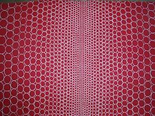 """DESIGNERS GUILD CURTAIN FABRIC """"Pearls"""" 3 METRES SCARLET CHRISTIAN LACROIX"""