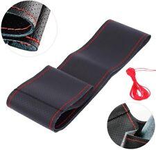 44cm/17.3''  Car/ Truck Steering Wheel Cover Leather DIY Black&R Needles Thread