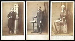 CDV Photos Lot Judge Barrister Same Man Welch Albany Studio Camberwell 1860s