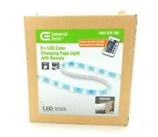 Commercial Electric 8ft LED Color Changing Tape Light with Remote