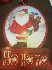 Santa Ho Ho Ho Sign Christmas Decor upc 639277578921