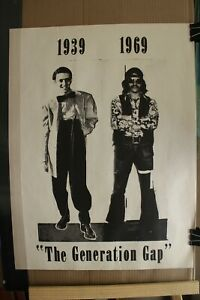 Rare Vintage Poster titled The Generation Gap