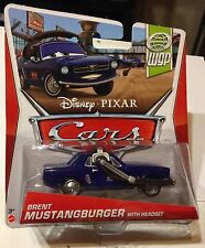 Disney Pixar Cars 2 BRENT MUSTANGBURGER WITH HEADSET 15/17 WGP Diecast Xmas Gift
