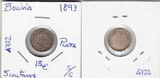 E4722 MONEDA BOLIVIA 5 CENTAVOS 1893 PLATA SC